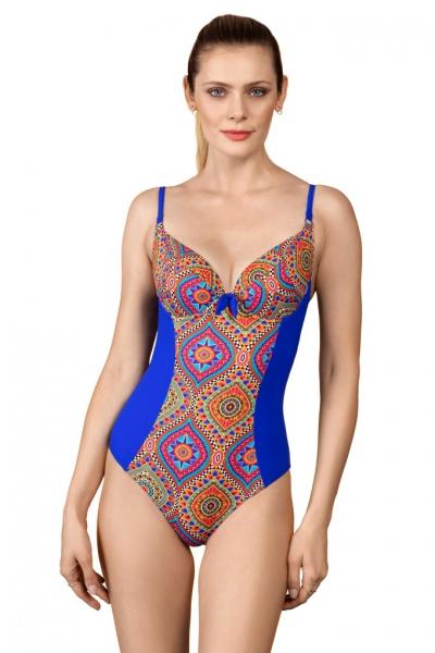 Dalia Holly 1cz K24 kobalt mozaika jednoczęsciowy strój kąpielowy