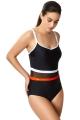 Panache Kira black/orange kostium kąpielowy jednoczęściowy