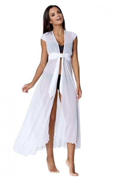 Lorin sukienka plażowa biała L6021/9 V1