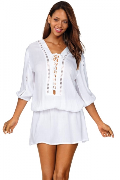 Feba F150/645 sukienka plażowa biel