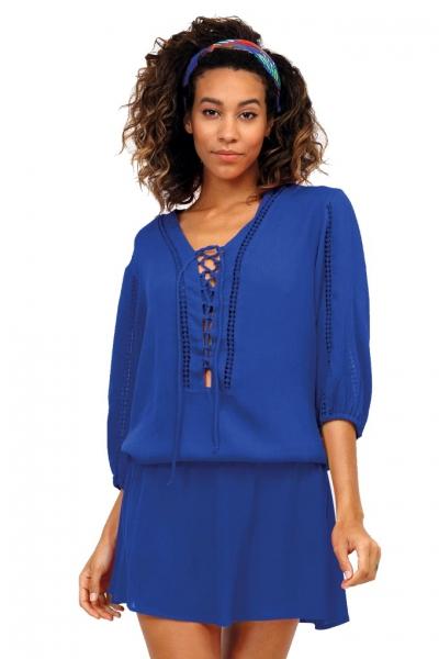 Feba F150/604 sukienka plażowa kobalt