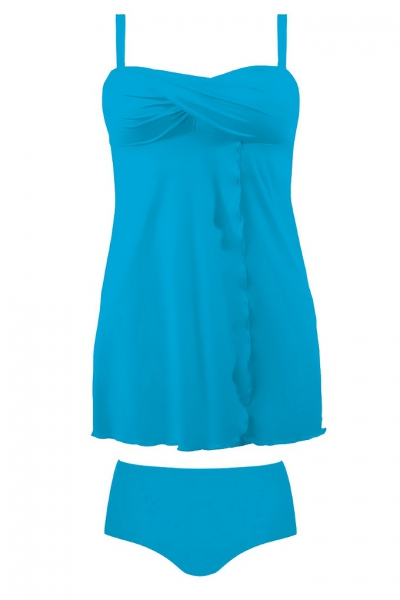 Self 1057 12 niebieski strój kąpielowy tankini komplet