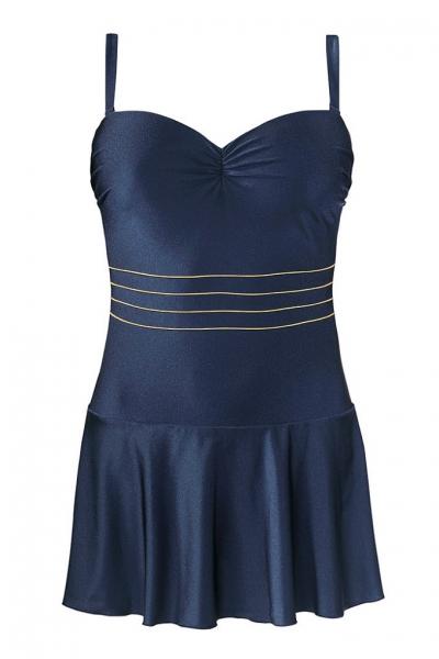 Self 8900X 17 granat strój kąpielowy jednoczęściowy z sukienką