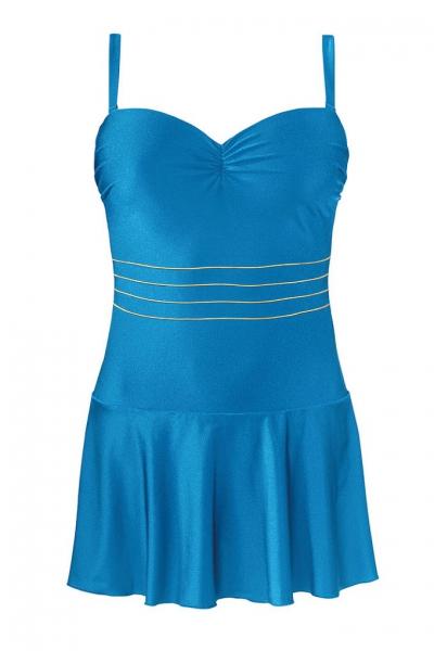 Self 8900X 30 niebieski strój kąpielowy jednoczęściowy z sukienką