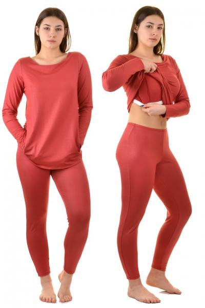 KrisLine Latica cynamon bluzka + legginsy