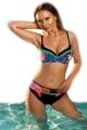 Aquarilla Braga 323 black-colorfull strój kąpielowy 2cz komplet